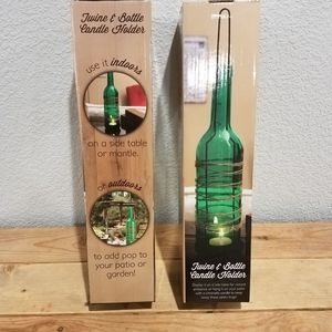 Twine and bottle candle holder